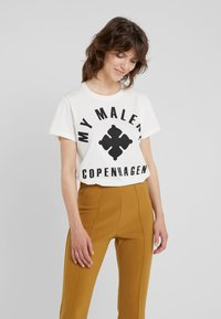 By Malene Birger - MARIANNE - T-Shirt print - soft white - 0