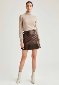 DeFacto - A-line skirt - brown - 0