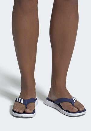 COMFORT FLIP-FLOPS - T-bar sandals - blue/white