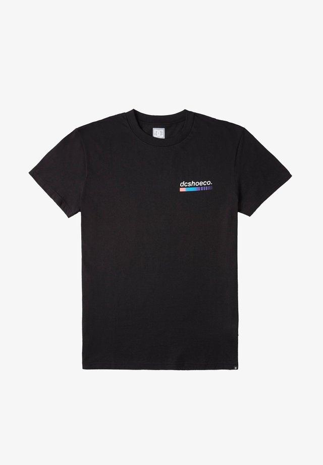 SET THE BARS - Print T-shirt - black