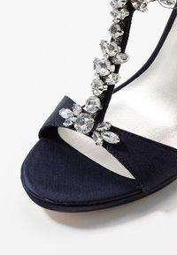 Tamaris - High heeled sandals - navy metallic - 2
