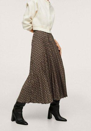 MIT LOGO-MUSTER - Plisovaná sukně - schwarz