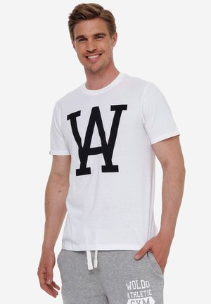 WOLDO ATHLETIC - T-shirt print - weiß-schwarz