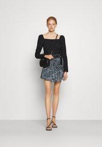 MICHAEL Michael Kors - ZEBRA MINI SKIRT - Mini skirt - light blue - 1