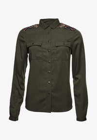Superdry - Button-down blouse - khaki - 0