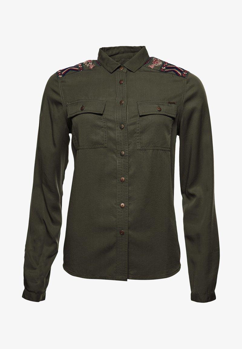 Superdry - Button-down blouse - khaki