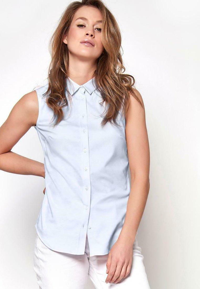 DESOTO - AMY - Button-down blouse - uni light blue