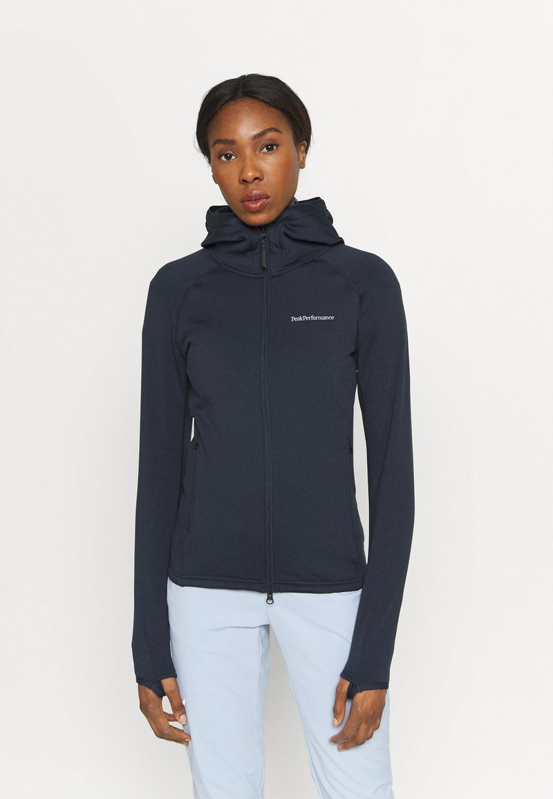 Peak Performance - CHILL ZIP HOOD - Fleece jacket - blue shadow