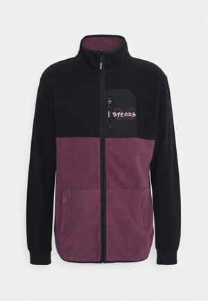 DEADBEAT PANELLED ZIP - Sweater met rits - black/dark red