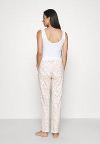 LASCANA - PANTS - Pyjama bottoms - nougat zebra - 2