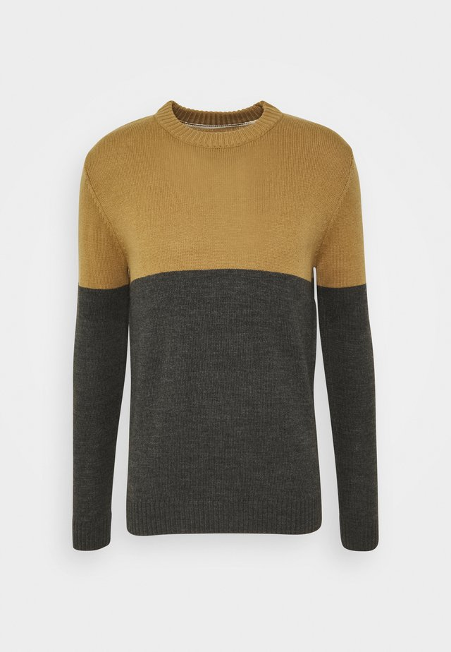AKRICO - Sweter - beige/dark grey