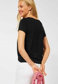 Street One - KNOTEN DETAIL - Print T-shirt - schwarz - 1