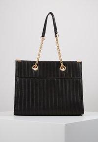New Look - HUGO QUILTED TOTE - Tote bag - black - 0