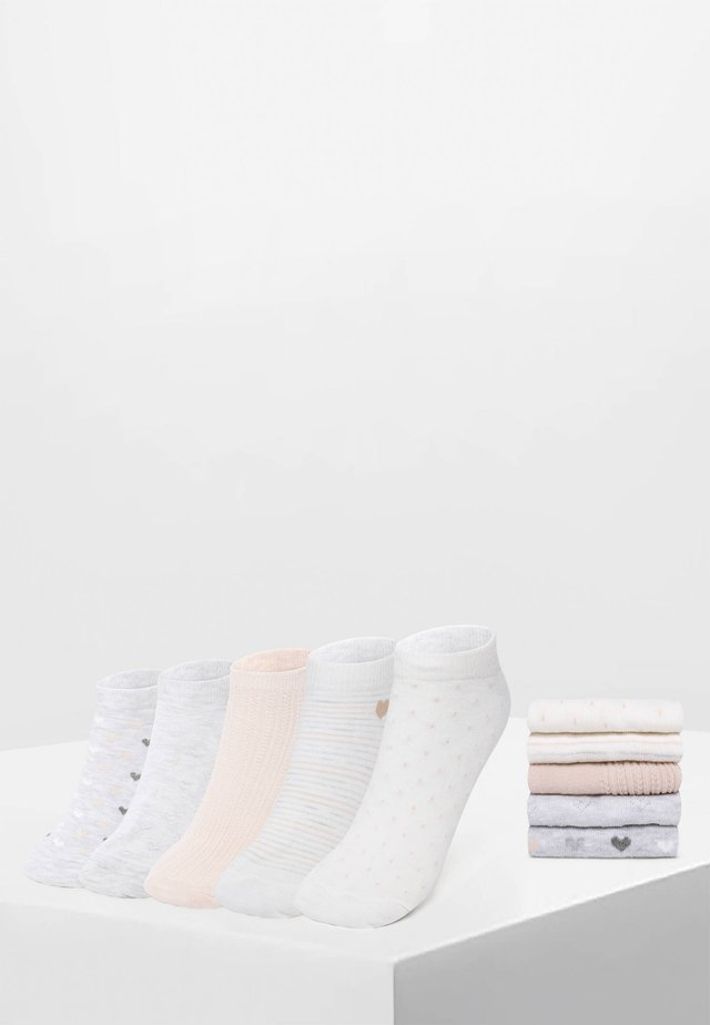 5 PACK - Ankelsockor - white