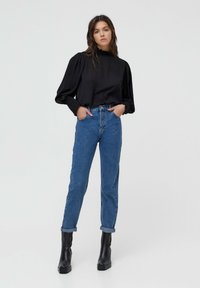 PULL&BEAR - MOM - Jeans baggy - blue - 1