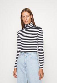 Calvin Klein Jeans - Long sleeved top - black/bright white - 0