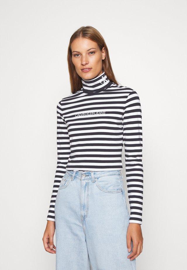 Bluzka z długim rękawem - black/bright white