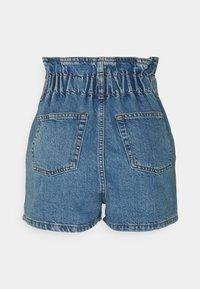Topshop - NEW PAPERBAG - Shorts di jeans - blue denim - 1