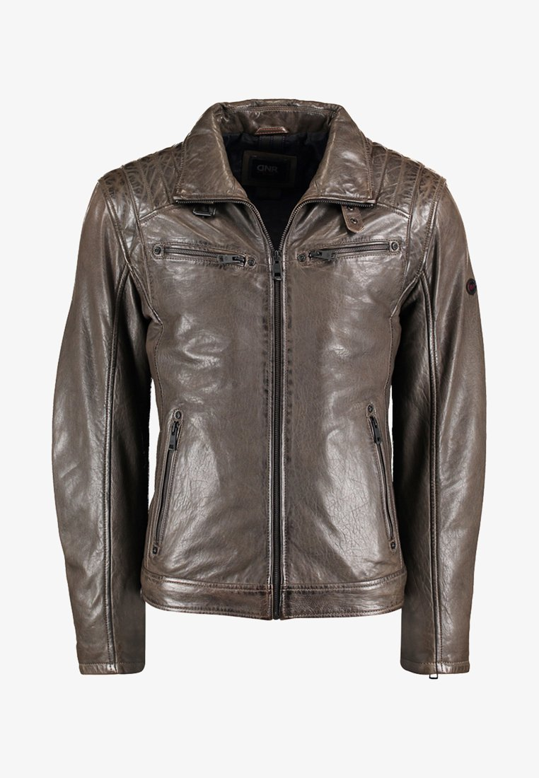 DNR Jackets - Leather jacket - brown