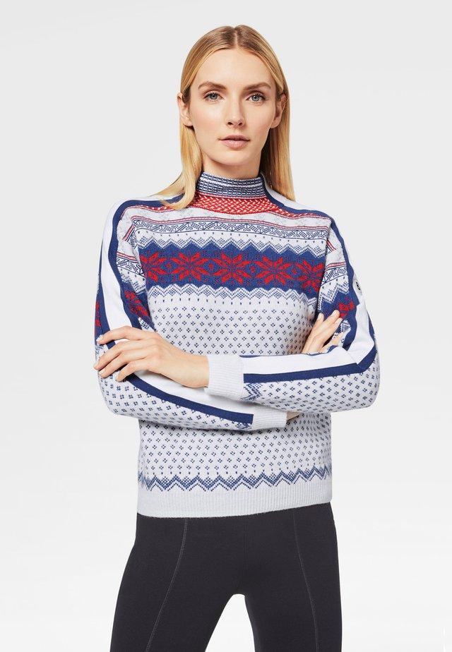 Pullover - off-white/blau