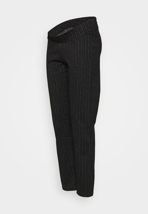 MLDILARA PANTS - Pantalon classique - dark grey melange/white
