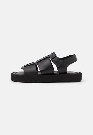 KLEVA - Korkeakorkoiset sandaalit - black