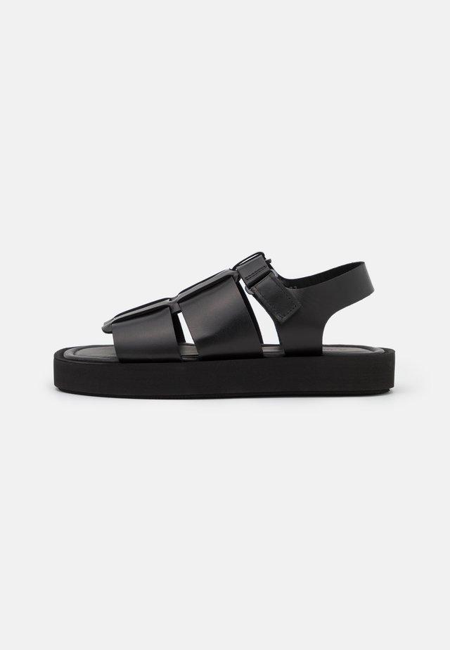 KLEVA - Sandalen met plateauzool - black