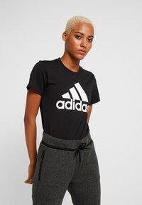 adidas Performance - BOS TEE - Print T-shirt - black - 0
