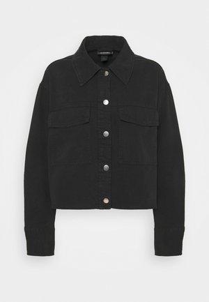 LINETTE - Denim jacket - black