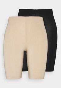 Kaffe - KASELMA 2 PACK - Shorts - black/nude - 0