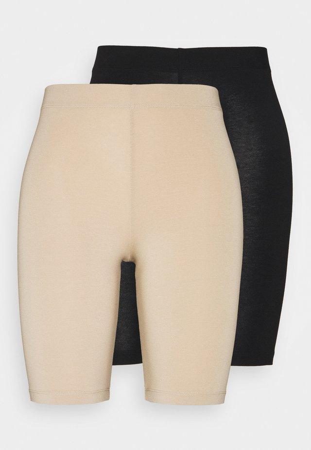 KASELMA 2 PACK - Shorts - black/nude