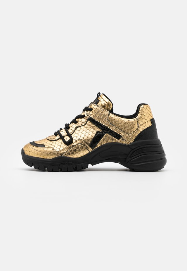 Sneakers laag - gold/black