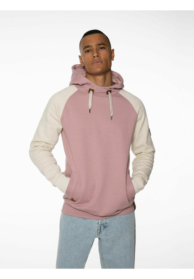 Sweatshirt - pink white