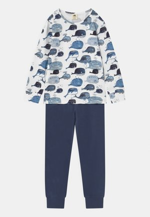 BABY WHALES UNISEX - Pyjama set - dark blue/white