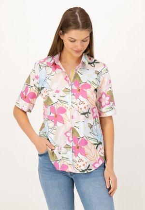 1/2 ARM - Button-down blouse - grün druck