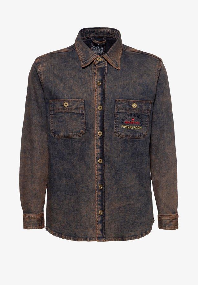 Overhemd - rostbraun