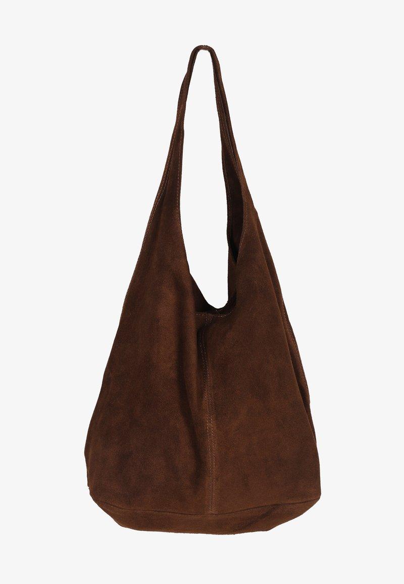Zwillingsherz - Tote bag - braun