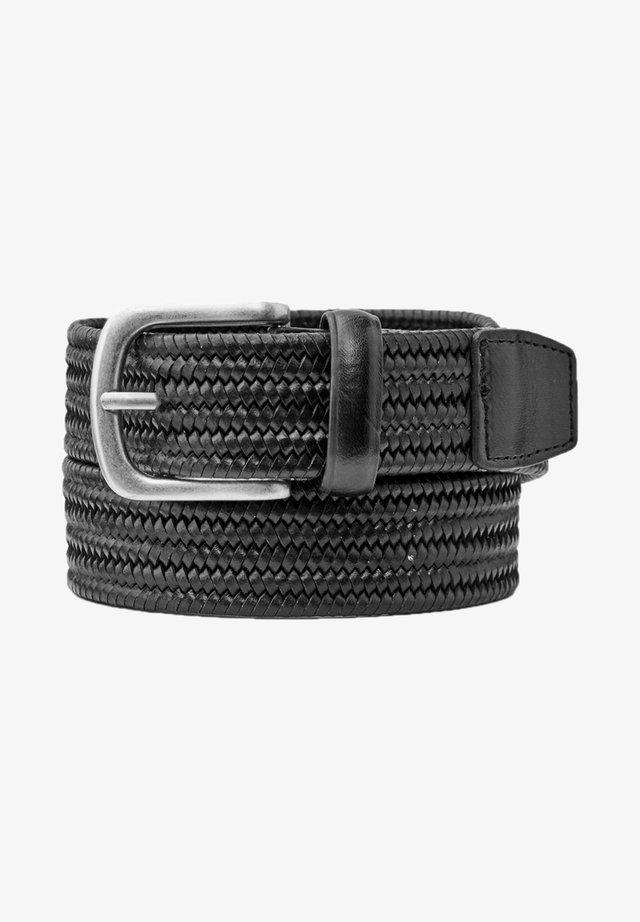 Braided belt - mottled black