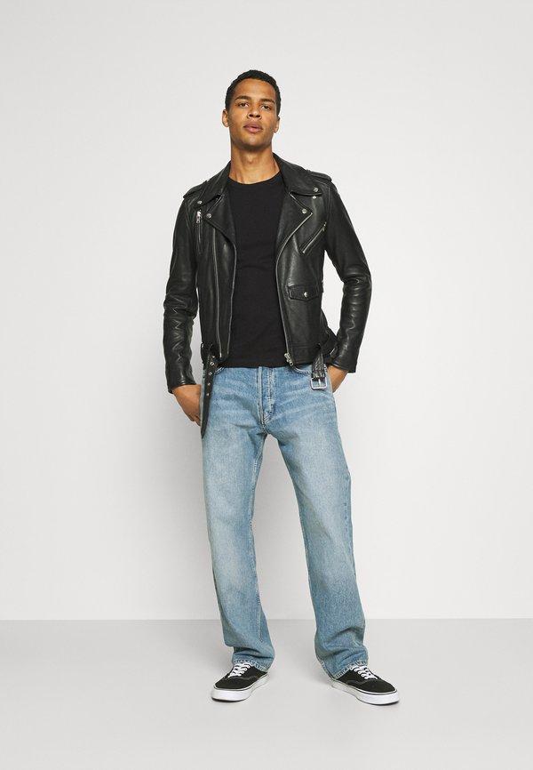 Calvin Klein TEXT REVERSED LOGO - Bluzka z długim rękawem - black/czarny Odzież Męska OYVD