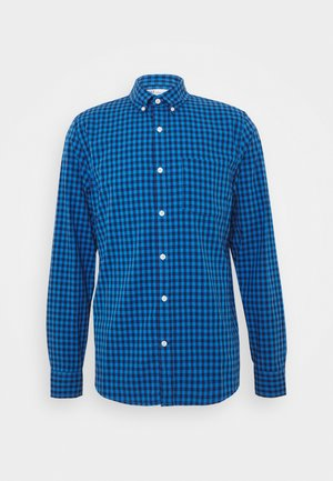V-OXFORD BASICS SLIM FIT - Shirt - blue gingham