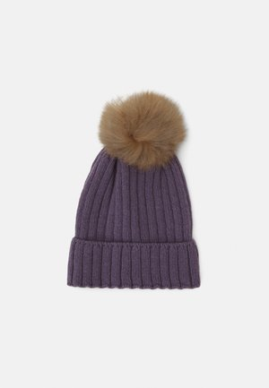 WARMY FOLD UP POMPOM - Beanie - purple