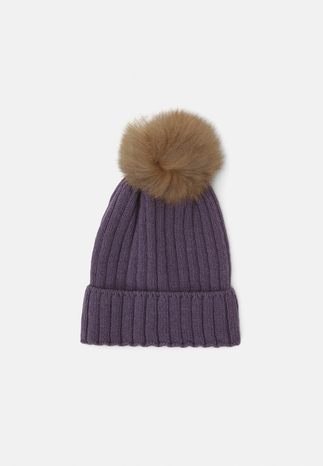 WARMY FOLD UP POMPOM - Berretto - purple
