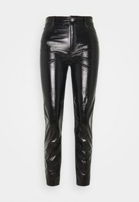 ONLY - ONLEMILY VENYL PANT - Trousers - black - 3