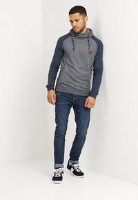 INDICODE JEANS - DYOTT - Hoodie - navy mix - 1