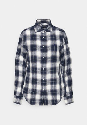PLAID - Skjorte - navy/white