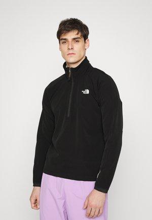 TEKWARE QUARTER ZIP - Fleece jumper - black