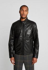 Strellson - FLAG - Leather jacket - black - 0