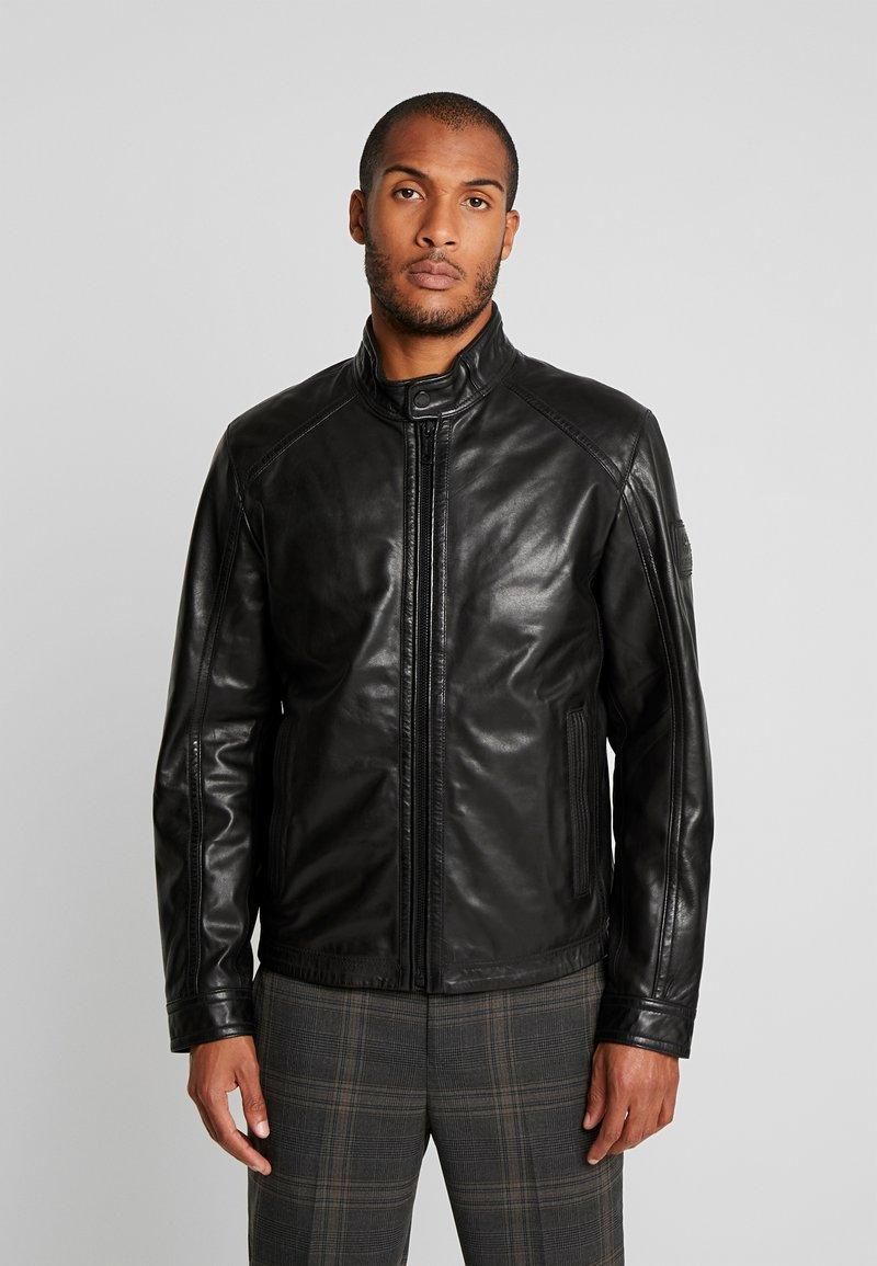 Strellson - FLAG - Leather jacket - black