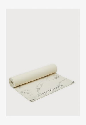 MARBLE PRINT MAT - Fitness/yoga - white/grey