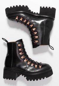 Grenson - NANETTE - Platform ankle boots - black colorado - 3